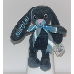 MyTeddy  Teddy Baby mørkeblå kanin med navn på. 30cm.