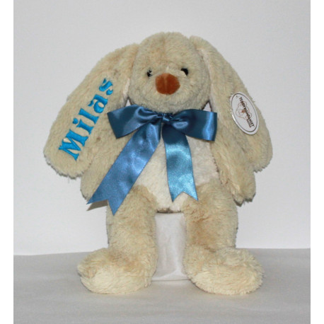 Teddykompaniet stor kanin med navn og fødselsdato på