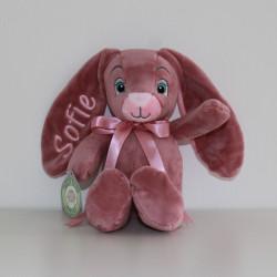 MyTeddy rosa  kaninbamse med navn på
