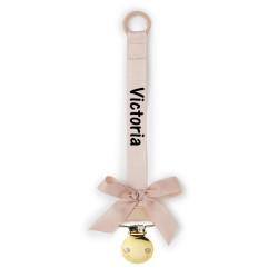 Elodie Details powder pink suttekæde med navn på